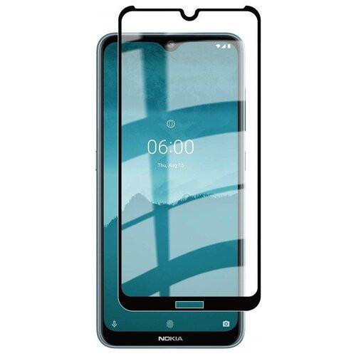 3D/5D защитное стекло MyPads для Nokia 2.2 с закругленными изогнутыми краями которое полностью закрывает экран / дисплей по краям с олеофобным покрытием