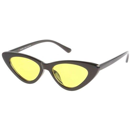 Солнцезащитные очки женские/Очки солнцезащитные женские/Солнечные очки женские/Очки солнечные женские/21kdg933410-815-195vr черный, желтый/Vittorio Richi/Кошачий глаз/модные