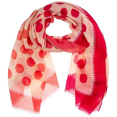 Палантин на голову/шарф палантин/палантин на шею/красивый палантин модный женский шарф шарф платок/легкий/21kdgvispn2201-35vr белый,розовый/Vittorio Richi/100% вискоза/180x90