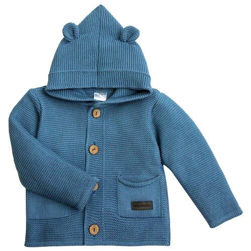 Купить Кофточка детская с капюшоном Pure Love синий, размер 86, Amarobaby, Джемперы и толстовки