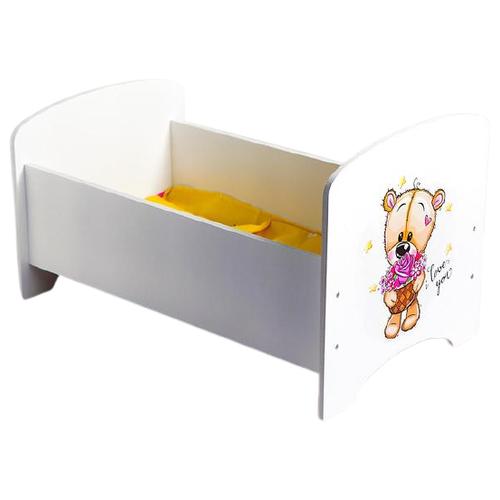 Фото - Коняша Кроватка для кукол Мишутки Романтик (MK01P) кукольные домики и мебель коняша набор стол и стулья мишутки романтик