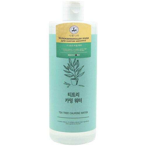 Купить Shingmulnara успокаивающая вода для снятия макияжа с экстрактом чайного дерева Tea Tree Calming Water, 500 мл