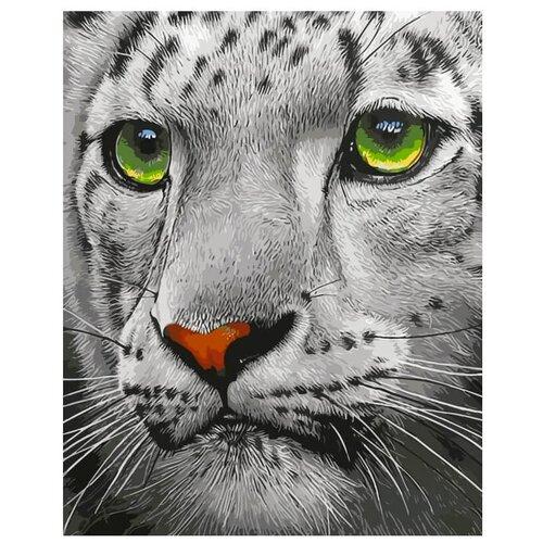 Фото - Цветной Картина по номерам Белый тигр 30х40 см (ME1072) цветной картина по номерам белый тигр 30х40 см me1072