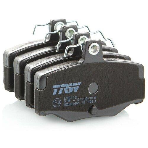Дисковые тормозные колодки задние TRW GDB3092 для Nissan Almera, Nissan Primera (4 шт.)