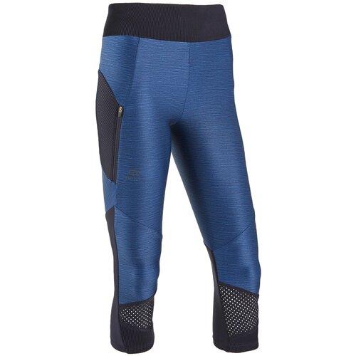 Тайтсы 3/4 для бега женские DRY+ FEEL синие, размер: XL / W35 L31, цвет: Синий/Глубокий Синий KALENJI Х Декатлон