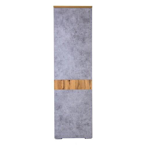Шкаф для прихожей Принцесса Мелания Римини 2032, (ШхГхВ): 58х38х199.5 см, бетон чикаго/дуб ватан банкетка принцесса мелания hd