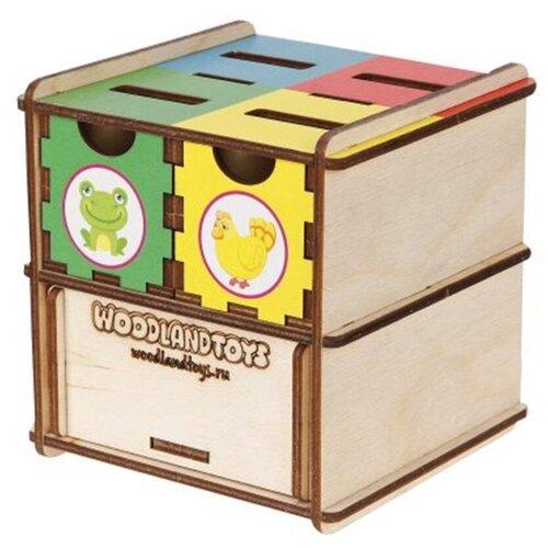 Развивающее пособие из дерева Комодик-куб Животные