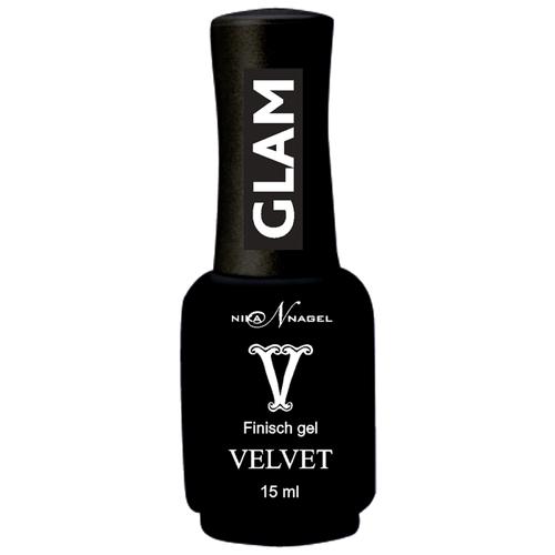 Nika Nagel верхнее покрытие Finisch Velvet Glam 15 мл прозрачный недорого