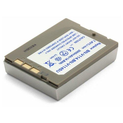 Фото - Усиленный аккумулятор для видеокамеры JVC BN-V114U, BN-V107U усиленный аккумулятор для jvc bn v416 bn v416u bn v428