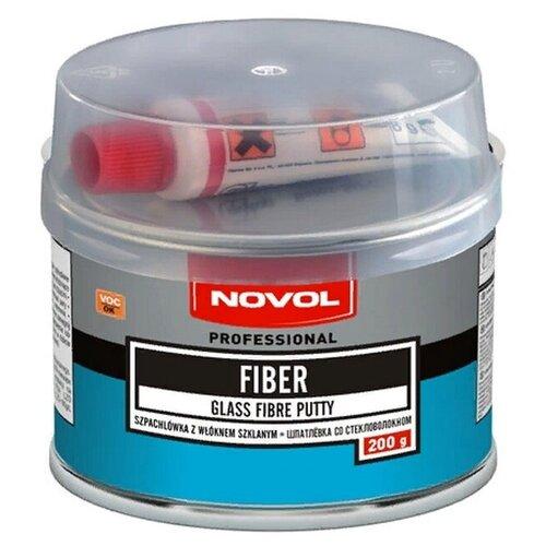 Комплект (шпатлевка, отвердитель) NOVOL FIBER 0.2 кг