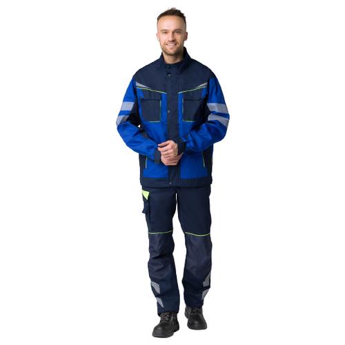Фото - Куртка укороченная мужская PROFLINE SPECIALIST (тк.Смесовая,240), т.синий/васильковый (44-46; 170-176) сорочка мужская vester 68814 41s 170 176