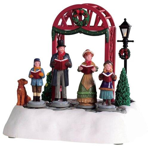 фигурка lemax платформа с рождественскими игрушками 10 4 x 18 x 10 см красный зеленый Фигурка LEMAX композиция Викторианские колядки 15.8 x 12.7 x 16.8 см красный/коричневый/белый