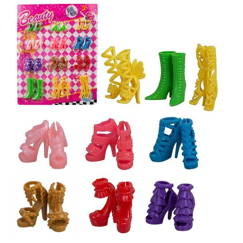 Купить Набор обуви для кукол 29 см 12 пар CH02B, TONG DE, Одежда для кукол