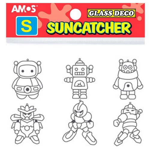 Витраж AMOS Мини набор 18 Роботы 23880