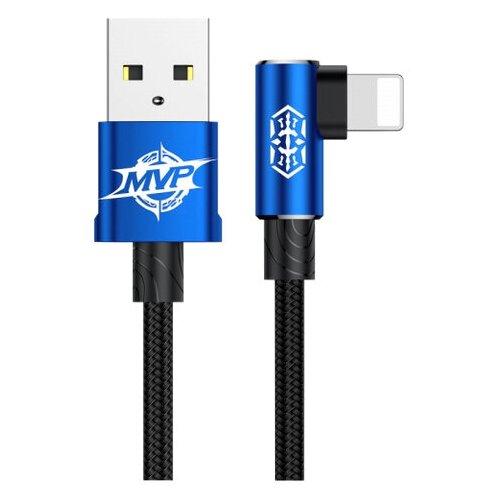 Кабель Baseus MVP Elbow USB - Lightning (CALMVP) 1 м, синий кабель baseus couple magnetic lightning usb calfd 1 м синий красный