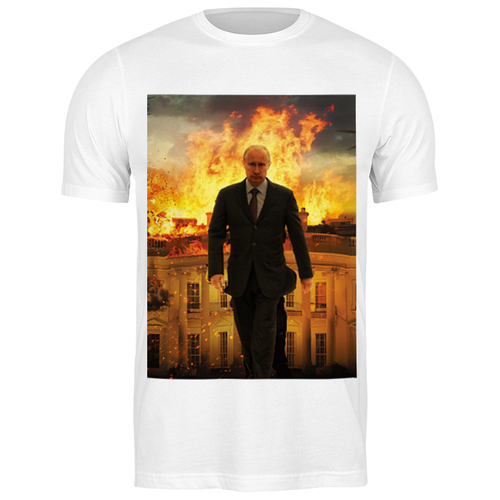 Футболка классическая Путин В.В. #2050474 (цвет: БЕЛЫЙ, пол: МУЖ, качество: ЭКОНОМ, размер: 2XL)