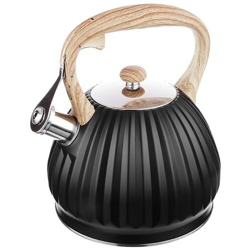 Vetta Чайник со свистком Винзен 847075 2.7 л, черный/бежевый чайник vetta глянец 847069 2 7 л