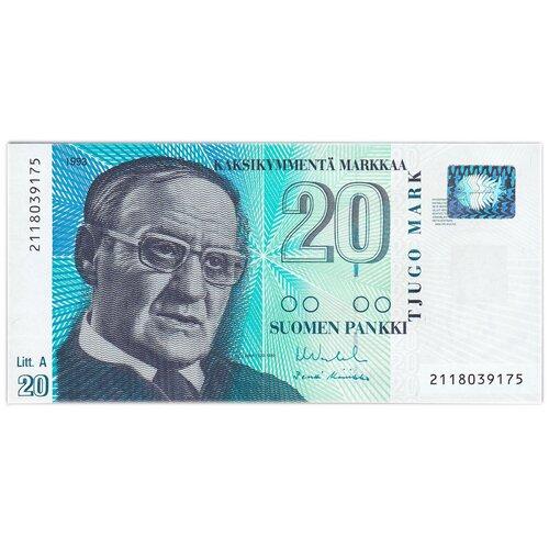 Банкнота Банк Финляндии 20 марок 1993 года