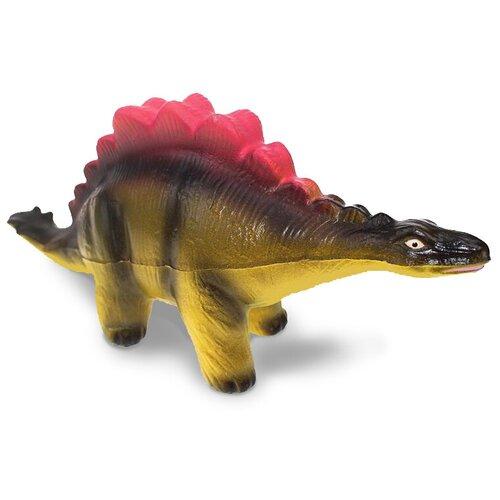 Игрушка-мялка Maxitoys Стегозавр 23 см желтый/коричневый