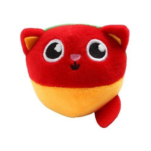 Купить Развивающая, мягкая игрушка - мячик «Котик», с погремушкой, в сумочке, Крошка Я, Погремушки и прорезыватели