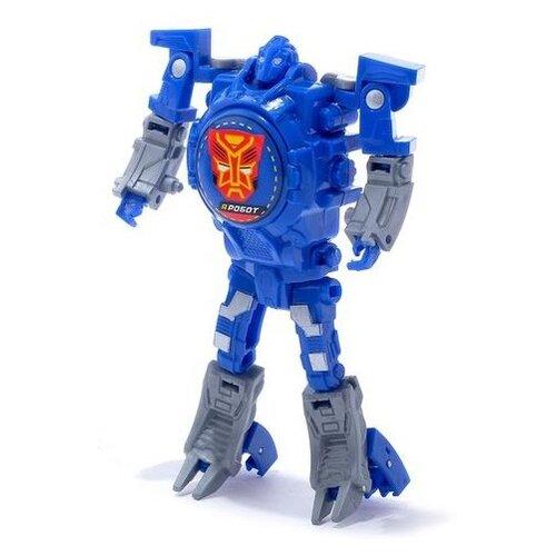 Купить Робот-трансформер Woow Toys Часы синий, Роботы и трансформеры