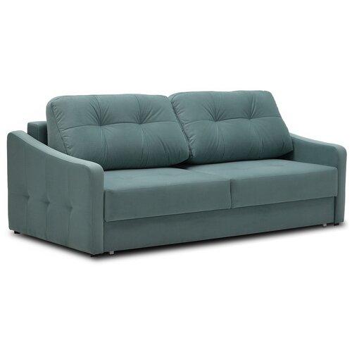 Диван Ладья Сити PM2 размер: 222х108 см, спальное место: 200х150 см, обивка: ткань, бирюзовый Neo 21