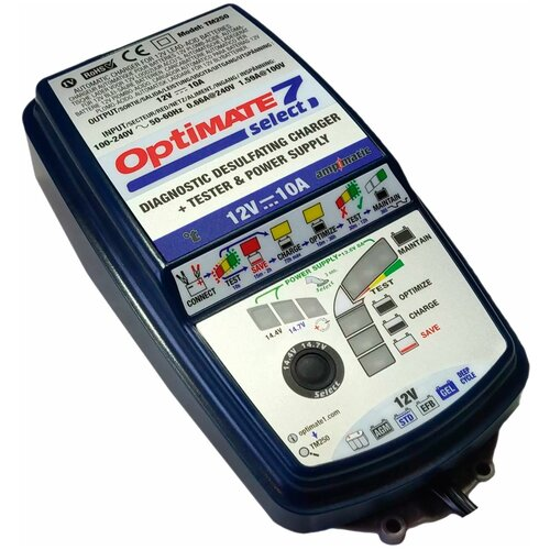 Зарядное устройство Optimate 7 Select (TM250) синий/серый