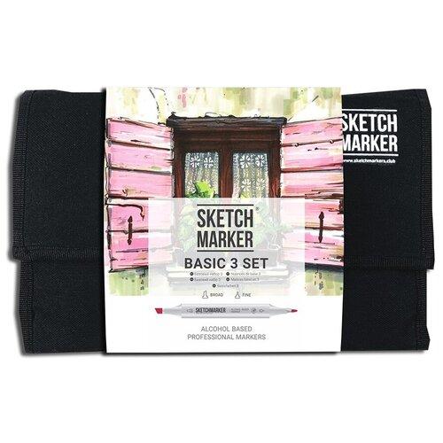 Купить SketchMarker Набор маркеров Basic Set 3, 24 шт., Фломастеры и маркеры