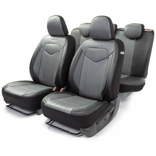 Универсальные чехлы на сиденья Signature Autoprofi, черно-серые SGN-1505GF BK/GY