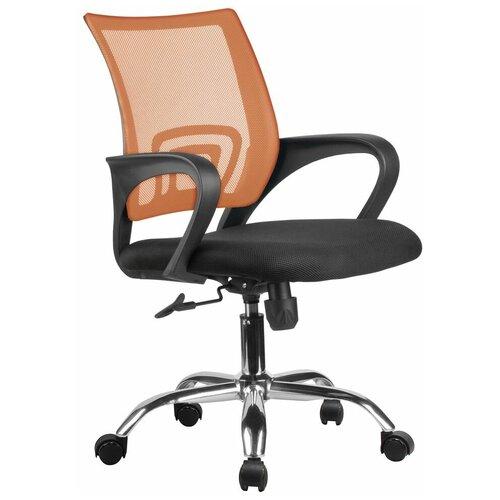 Компьютерное кресло Рива RHC 8085 JE офисное, обивка: текстиль, цвет: оранжевый компьютерное кресло рива 8074 офисное обивка текстиль искусственная кожа цвет оранжевый