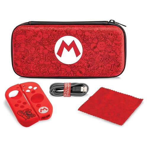 Аксессуар для Nintendo Switch: Чехол Nintendo Switch Mario Remix и набор аксессуаров