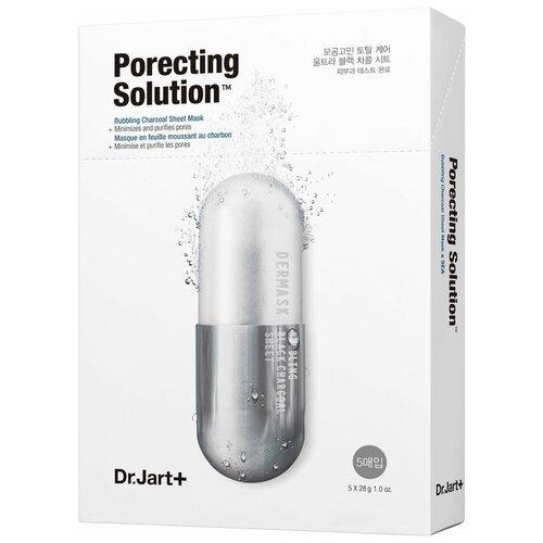 Купить Dr.Jart+ Маска для интенсивного очищения и сужения пор Dermask Porecting Solution, 28 г, 5 шт.