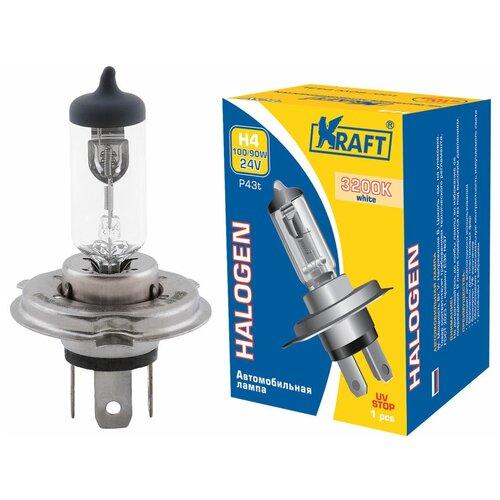 Лампа автомобильная галогенная KRAFT H4 24v 100/90w (P43t) KT 700013 1 шт.