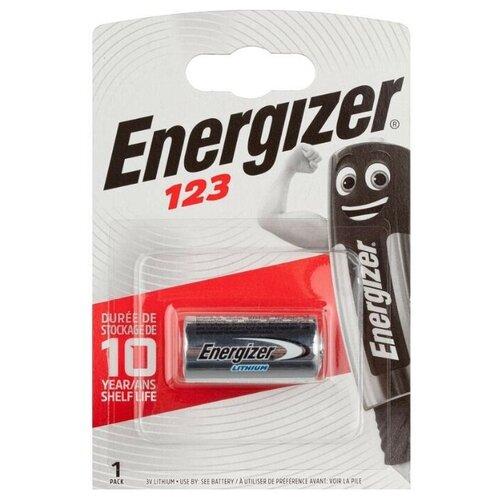 Фото - Батарейка Energizer CR123, 1 шт., 4 уп. батарейка energizer max plus aa 4 шт