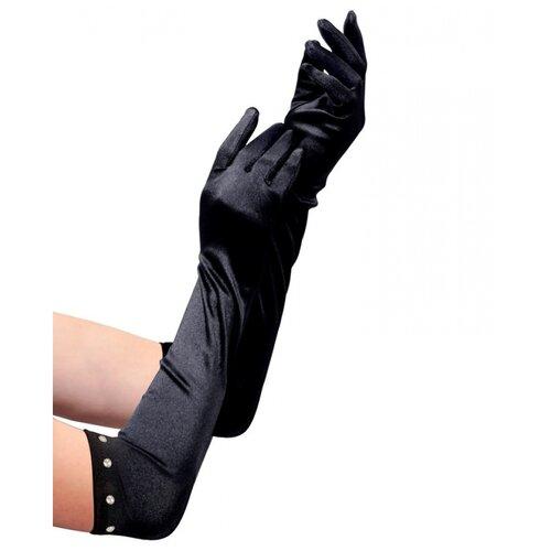 Купить Черные перчатки со стразами (детские), WIDMANN, Карнавальные костюмы