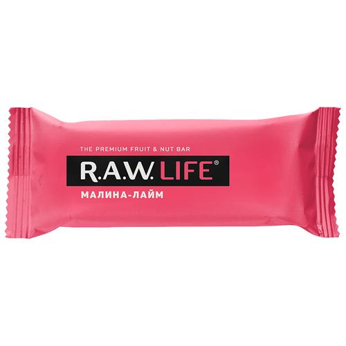 Фото - Фруктовый батончик R.A.W. Life без сахара Малина-Лайм, 47 г фруктовый батончик r a w life без сахара кешью 47 г