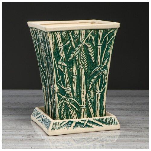 Фото - Цветочный горшок Бамбук зеленый, под шамот, 3 л 4930696 бокал евро рыбак под шамот 1 5 л 3298943