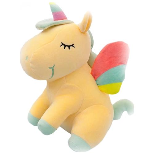 Ультра мягкая игрушка Единорог 20см, желтый