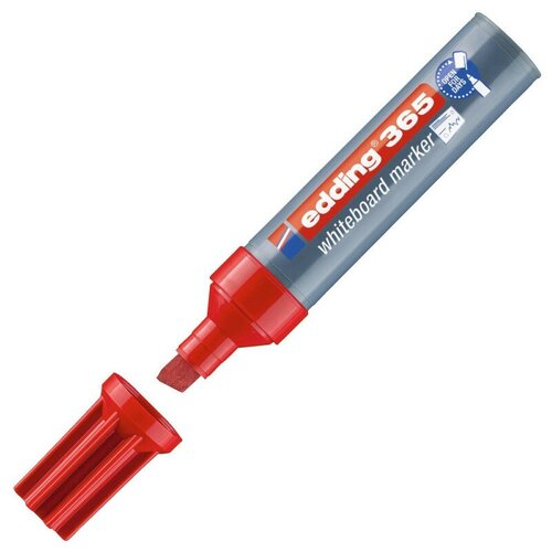 Купить Маркер для досок EDDING 365/2 красный 2-7 мм, скошенный наконечник, Маркеры