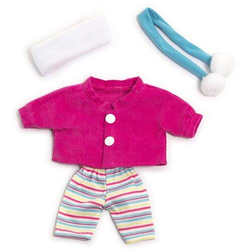 Miniland комплект одежды для кукол 21 см Cold Weather Jacket set розовый/голубой