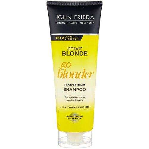 Купить John Frieda шампунь Sheer Blonde Go Blonder осветляющий для натуральных, мелированных и окрашенных волос, 250 мл