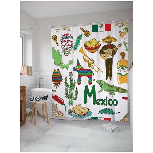 Штора для ванной JoyArty Атрибуты Мексики 180х200 (sc-11664)