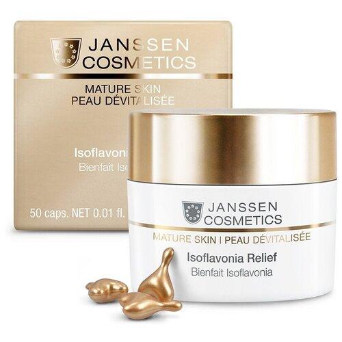 Капсулы Janssen Mature skin Isoflavonia Relief с фитоэстрогенами 50 шт. эмульсия для тела janssen cosmetics isoflavonia с фитоэстрогенами 200 мл