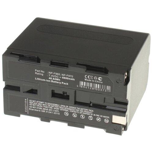 Фото - Аккумуляторная батарея iBatt 6600mAh для Sony NP-F970/B, NP-F730, NP-F950/B, NP-F930/B, NP-F975 аккумуляторная батарея ibatt 850mah для pentax praktica samsung klic 7005 np 40n