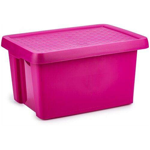 Коробка с крышкой Essentials 16л фиолетовая