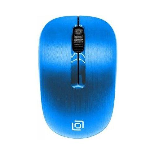 Oklick Мышь Oklick 525MW голубой оптическая (1000dpi) беспроводная USB (2but)