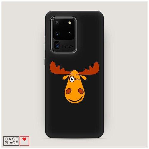 Чехол силиконовый Матовый Samsung Galaxy S20 Ultra Лось палата 6
