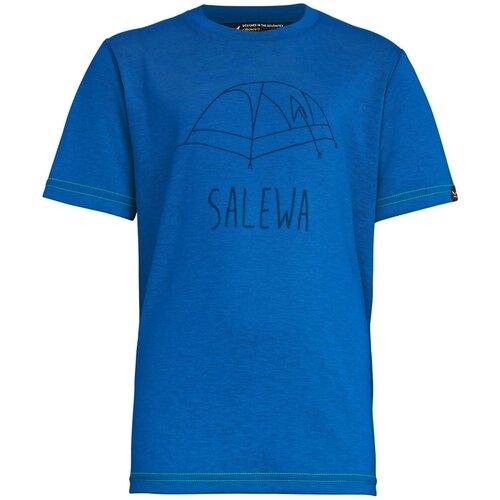 Футболка Salewa Frea Melange размер 140, prince blue melange