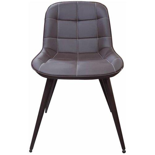 Комплект стульев Аврора Прованс-2, Металл Черный муар / Экокожа Нитро браун, 2 шт