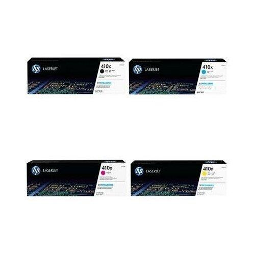 Фото - HP CF412X-CF413X-CF411X-CF410X Картриджи комплектом 410X полный набор повышенной емкости CMYK:5K, BK:6.5K стр. [выгода 3%] для LaserJet M477, M377, M452; I-Sensys LBP650, LBP653, LBP654, MF730, MF731, MF732, MF733, MF734, MF735 hp m0j98ae m0j94ae m0j90ae m0k02ae картриджи комплектом 991x полный набор повышенной емкости cmyk 16k bk 20k стр [выгода 2